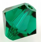 25 x 6mm SWAROVSKI® ELEMENTS  Xilion Beads Emerald
